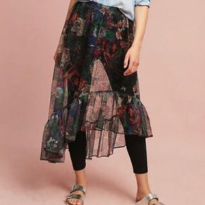 NWT Anthropologie Tulle Skirted Leggings.